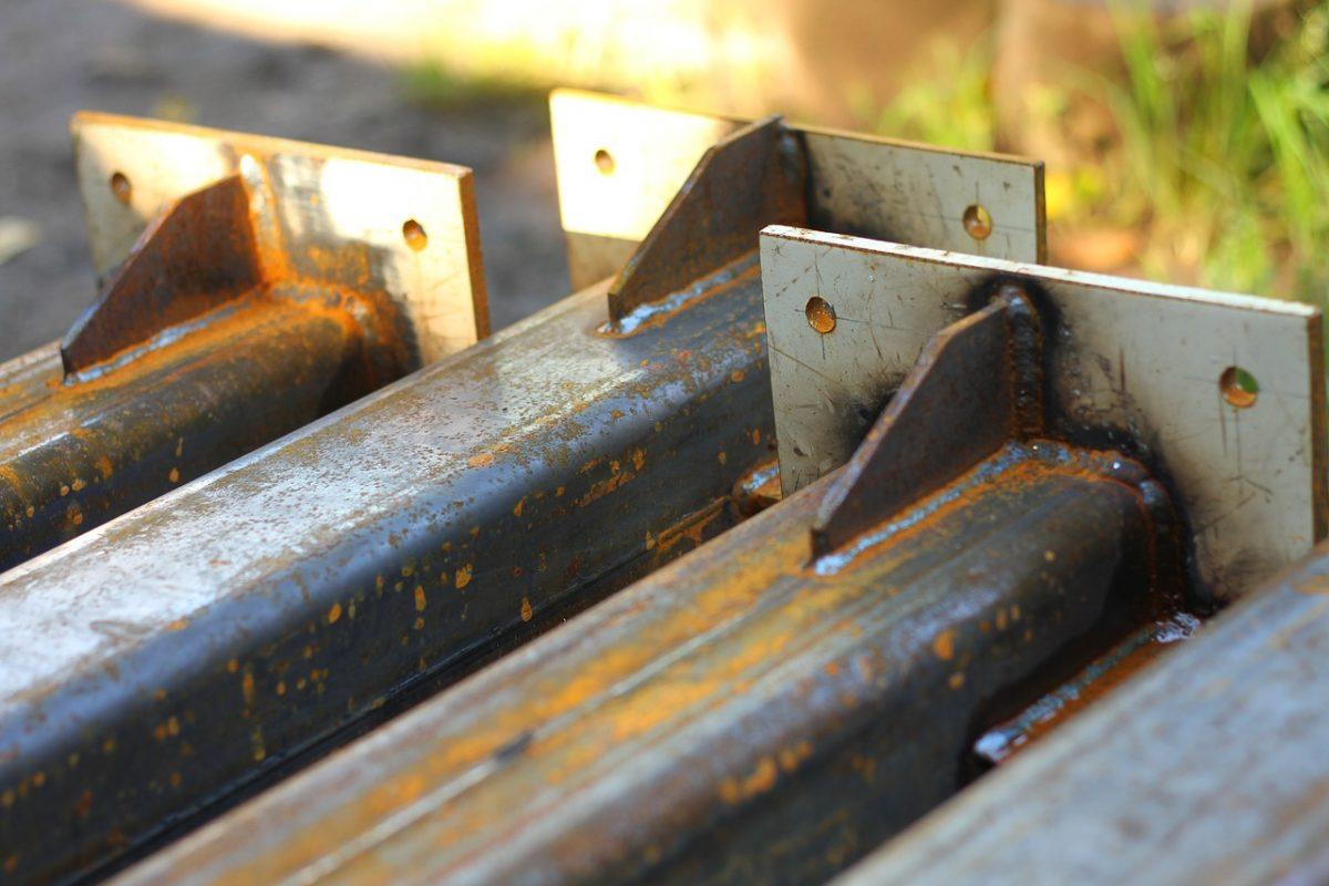 Stål, ett vanligt material i konstruktioner